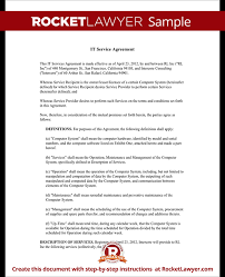 sample contract agreement it service contract agreement template with sample