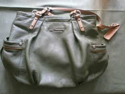 lovely pale green leather handbag shoulder bag by b makowsky vgc