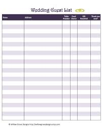Wedding Guest List Spreadsheet (13 Images) - Allsurface
