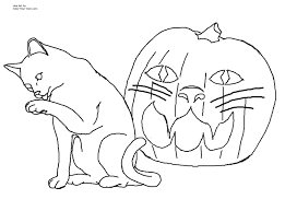 Halloween Cats Coloring Pages Futuramame
