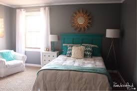 ... Entrancing Images Of Modern White And Gray Bedroom Decoration Ideas :  Extraordinary Turquoise White And Gray ...