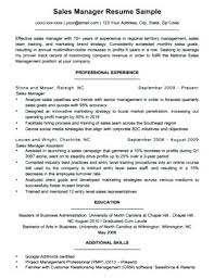 National Sales Manager Resume National Account Executive Resume ...
