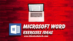 List Of Microsoft Word Exercises For Students Klient Solutech