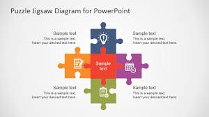 Puzzle Powerpoint Template Free Flat Puzzle Jigsaw PowerPoint Diagram SlideModel 1