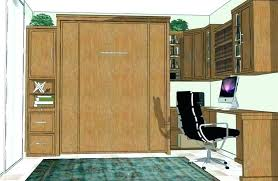murphy bed office. Murphy Bed Office With Plans Desk