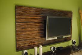Wall Panelling Living Room Custom Made Macassar Ebony Wood Wall Tv Panel Living Room