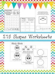 217 Shapes Worksheets And Charts Preschool Kindergarten Geometry Zip File