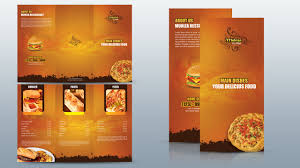 make tri fold brochure create a tri fold restaurant brochure photoshop tutorial youtube