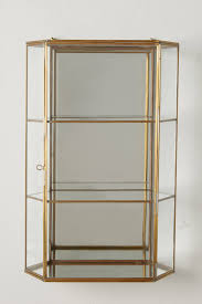 Glass Curio Cabinets With Lights Wall Curio Cabinet Anthropologie