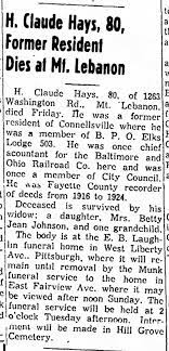 H. Claude Hays - Death Announcement - Jan. 21, 1956 - The Daily Courier -  Newspapers.com