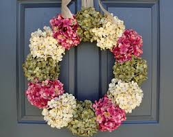 spring front door wreathsHydrangea Wreaths Winter Wreath Wedding Wreaths Front