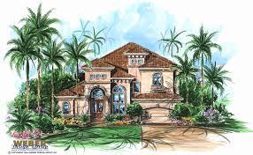 mediterranean house plans. Mediterranean Floor Plans Lovely House Plan Narrow Lot Waterfront Home