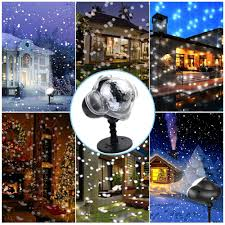 Lights That Look Like Snow Falling Led Projector Light Snow Falling Light Waterproof Outdoor Indoor Snowflake Decorations Light With Remote Control For Christmas Halloween Festival