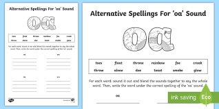 Phonics is a method of teaching children to read by linking phonemes and the letters that represent them. Alternative Spelling For Oa Sound Worksheet Teacher Made