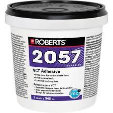 roberts 2057 1 qt premium vinyl composition tile glue adhesive