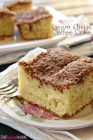 Cream Cheese Coffee Cake with Cinnamon Streusel Topping