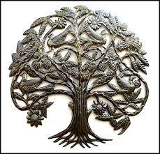 tree of life metal art metal wall hanging metal wall art tree and birds steel drum tree of life metal