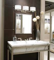 bath vanity lighting. Remarkable Fabulous Brown Wall Ceramic Bathroom Design Plus Amazing White Bath Vanities Home Depot Bathrooms Vanity Lighting O