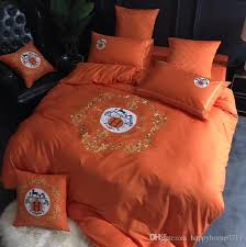 luxury embroidered bedding set new arrival signage h creative home textiles bedding set high quality cotton family gifts luxury embroidered