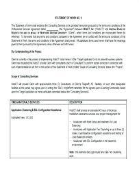 design statement of work consulting estimate template statement of work template