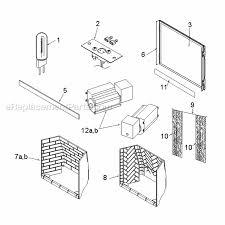 amazing majestic khldv500 parts list and diagram khldv series regarding fireplace replacement parts