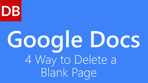 4 Ways to Delete a Blank Page | Google Docs Tutorial - YouTube