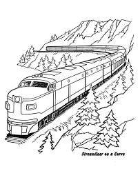 Thomas the train s christmas day15f5. Mountains And Train Coloring Pages Printable