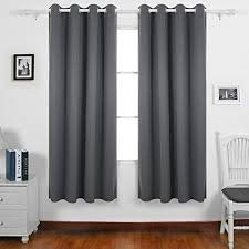 grey bedroom curtains. deconovo super soft window treatment thermal insulated room darkening eyelet blackout curtains for children with two matching tie backs 66 x 72 drop inch grey bedroom
