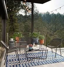Space friendly furniture Multiple Use Outdoor Deck Or Patio Furniture For Small Spaces Outdoor Dining And Lounge Furniture Round Up Modsy Blog Small Spacefriendly Outdoor Furniture Jojotastic