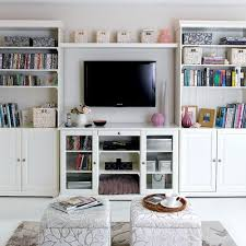 tv rooms furniture. simple but smart living room storage ideas in white with tv mount and bookcase functional for small rooms tv furniture d