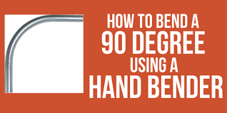 How To Bend A 90 Degree Bend With Emt