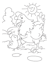 Small Picture Chicken with mother hen coloring pages Download Free Chicken