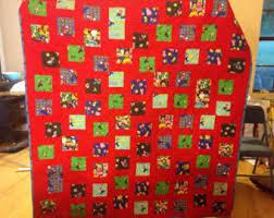 Handmade super mario quilt | Etsy & Super mario brothers quilt Adamdwight.com