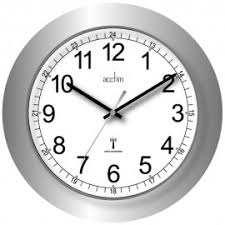 office wall clock. Formia Silver Radio Controlled Wall Clock 30cm Office L