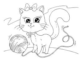 Poes Kleurplaat A4 Malvorlage Katze Und Wolle Ausmalbild 22645
