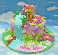 Tinkerbell Theme Designer Birthday Cakes And Cupcakes Mumbai