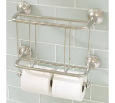 Chrome Toilet Paper Holder Magazine Rack Mercer magazine rack and toilet paper holder from Pottery Barn in 18