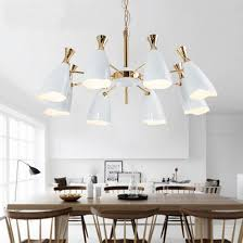 kitchen and dining room modern white pendant light hanging lamps with metal shades