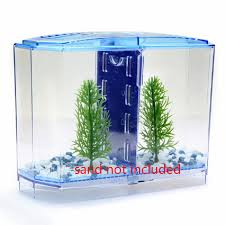 Betta Art Decorative Fish Bowl 60 Size Acrylic Mini Aquarium Betta Fish Tank Aquarium Incubator 58