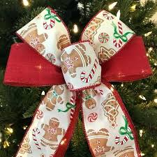 diy bow tree topper bows gingerbread set of 6