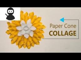 How To Make Paper Cones For Flower Petals Paper Crafts Diy Wall Decoration Paper Cones Collage Home Decor