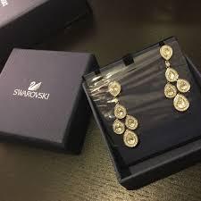 swarovski sensation crystal chandelier earrings luxury accessories on carou