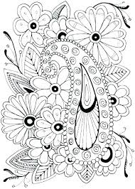 Free Printable Flower Coloring Pages The Blooming Flowers Coloring