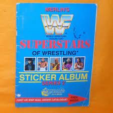 details about vine merlin s wwf superstars of wrestling sticker al series 2 plete
