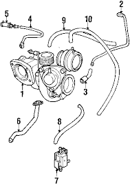 parts com® volvo engine turbocharger and components vacuum hose 2001 volvo c70 base l5 2 3 liter gas turbocharger components