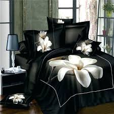 asian inspired bedding inspired bedding black and white magnolia flower print rustic inspired oriental style unique design unique cotton full size bedding