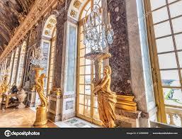 Versailles Frankreich März 2018 Kronleuchter Spiegelsaal