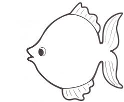 Simple Fish Outline Printable Fish Template Under Fontanacountryinn Com