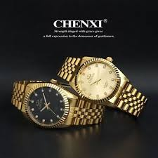 stainless steel quartz watches wrist watch whole chenxi gold image is loading stainless steel quartz watches wrist watch whole chenxi