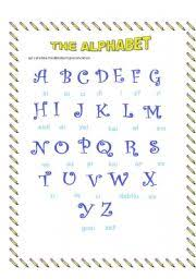 Spanish Alphabet Chart Pdf The Alphabet Esl Worksheet By Yoselaina